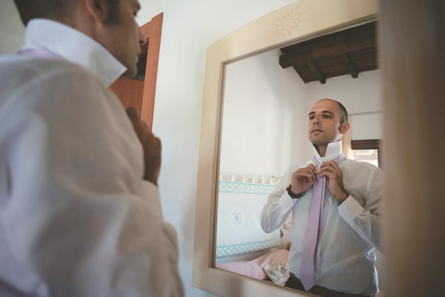 Fotografia Matrimonio Alghero preparazione sposo